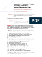 Worksheet 26 Pronouns and Their Antecedents