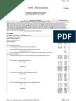 CA40 - Electrical Data