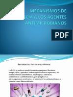 Mecanismos de Resistencia a Los Agentes Antimicrobiannos