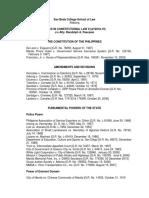 Consti Law 2 Syllabus for AY2018-19