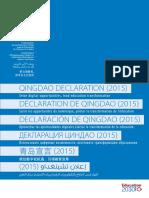 UNESCO - DECLARACIÓN DE QINGDAO(2015).pdf