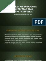 Review Metodologi Penelitian Dan Biostatistika