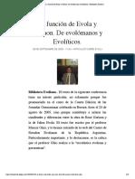 La función de Evola y Guénon. De evolómanos y Evolíticos. | Biblioteca Evoliana