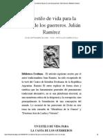 Un estilo de vida para la casta de los .... Julián Ramírez   Biblioteca Evoliana
