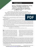 Workload and Burnout Among Japanesse Phsysician-nishimura 2014