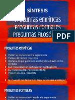 Sc3adntesis Preguntas Empc3adricas Formales Filosc3b3ficas