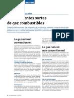 Differentes Sortes de Gaz Combustibles