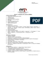 Conteudo Programatico - Secretário Auxiliar Do Mp de Goianira