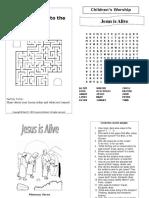 Easter Bulletin for Children
