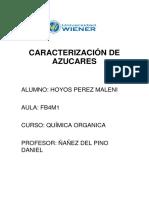 Caracterización de Azucares