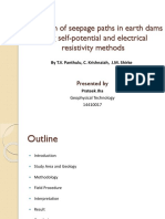Detection of seepage paths in earth dams using self-potential and electrical resistivity methods