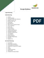 Google Syllabus