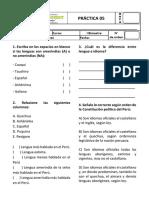 Práctica 05 de Gramática - 1ero de Secundaria