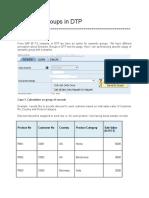 Semantic Groups in DTP
