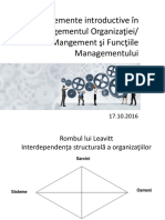 Elemente Introductive in Managementul Organizatiei