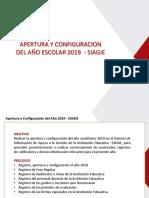 Configuarción SIAGIE 2019