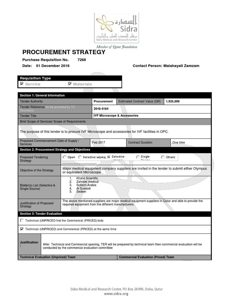 procurement strategy | Procurement | Supply Chain