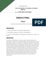 Entrega 4. Ensayo Final