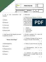Práctica de Gramática 03 - 3ero de Secundaria