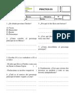 Práctica de Plan Lector 01 - 1ero de Secundaria