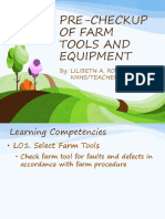 Pre Check up of Farm Tools and Equipment in Horticulture TLE Grade 7.pdf