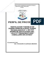 Proyecto Vivero Agricola Institucional
