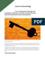 The Mathematics of (Hacking) Passwords