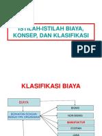 2. KLASIFIKASI BIAYA