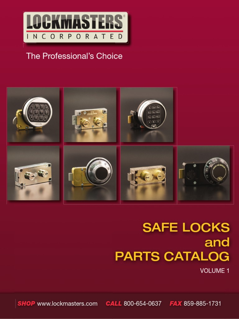 Safe Locks and Parts Catalog: The Professional's Choice