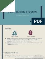 Evaluative Essay Writing