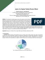 Design and Analysis of a Kaplan Turbine Runner Wheel