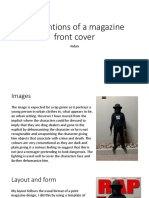 q1-conventions of a magazine front cover