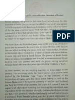Salva Kiir Easter Message