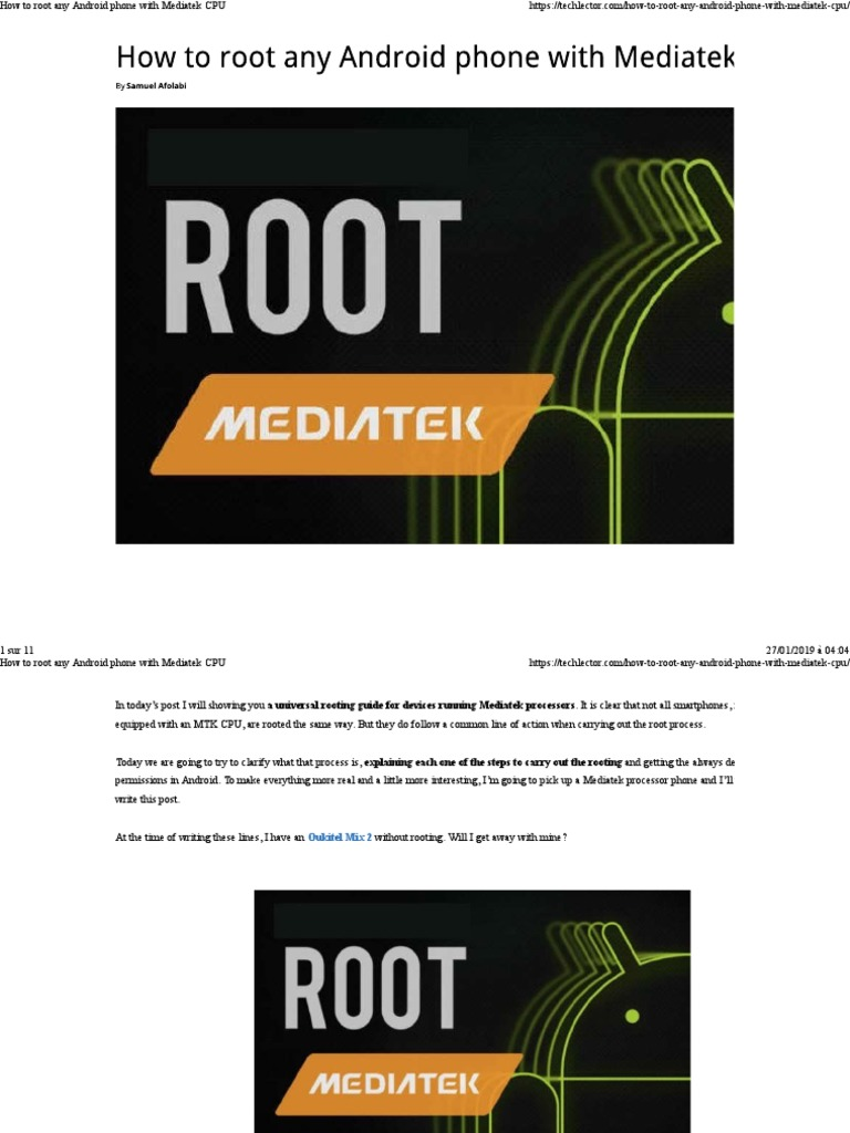 How to root any Android phone with Mediatek CPU pdf