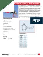 Datasheet Pneumatic Actuator With Solenoid
