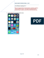iPhone Device Reset Instructions - IOS 7