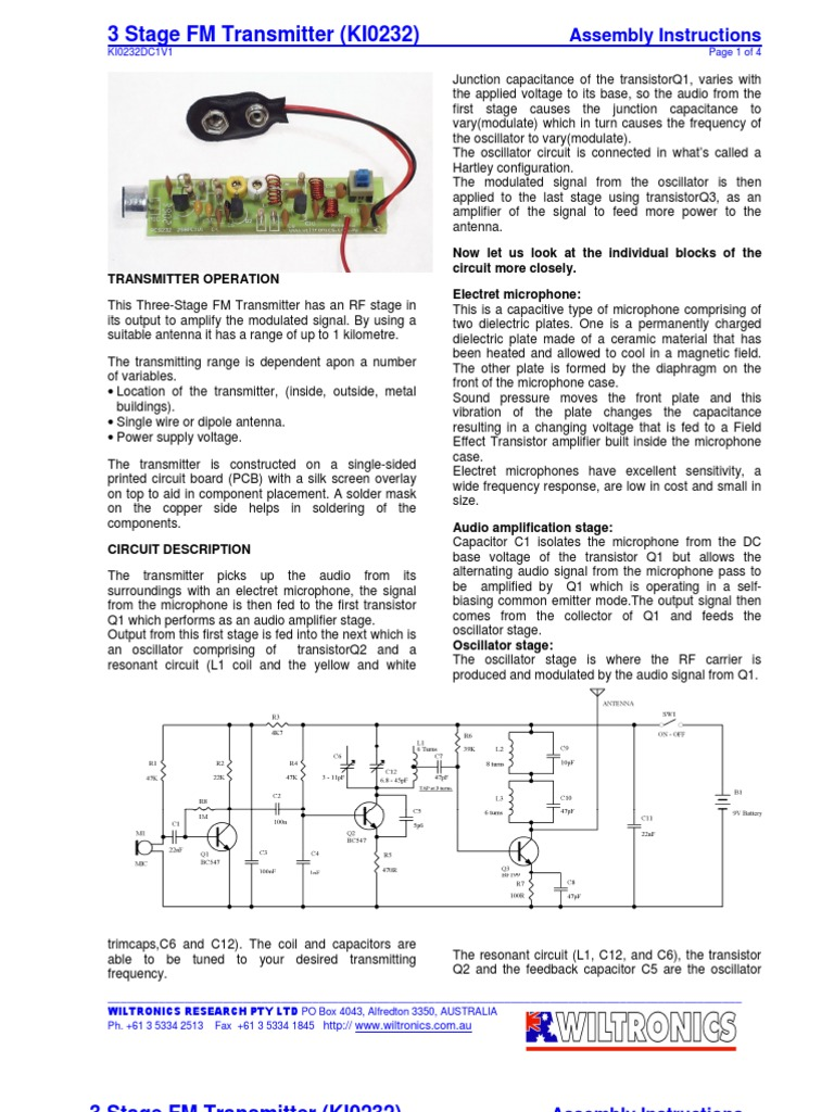 Trans Amplifier Microphone Metal Detector Circuit Explanation When The Lc That Is L1 And