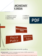 presentation on fiscal and monetary policy in India