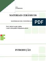Aula 03a - Materiais Cerâmicos