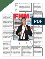 magazine cover analysis ronaldo