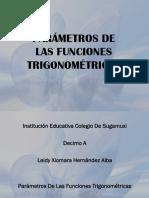 Parámetros de Las Funciones Trigonométricas