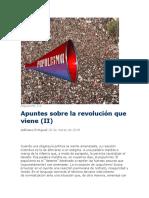 Apuntes Sobre La Revolución Que Viene (II)