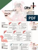 Rundown - Schedule Pack - Femme 2019