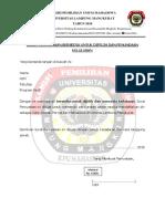 Surat Pernyataan Calon Anggota DPM