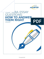 Top Mba Application Essay Tips