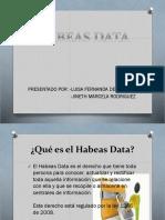 Historia Del Hábeas Data