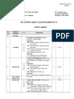 Planificare Snapshot a VIII -a CALEND BUNA