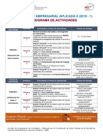 Cronograma de Actividades IEA-II (2019 - I)