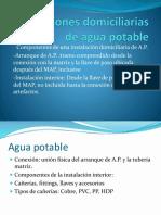 Instalaciones Domiciliarias de Agua Potable