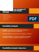 Presentation on Feasibility Analysis and Software Testing